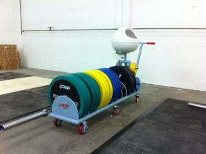 A fraction of our tonne of bumper plates