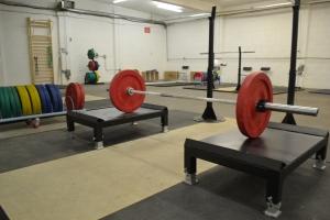 Custom made metal pulling blocks, sturdy and height adjustable